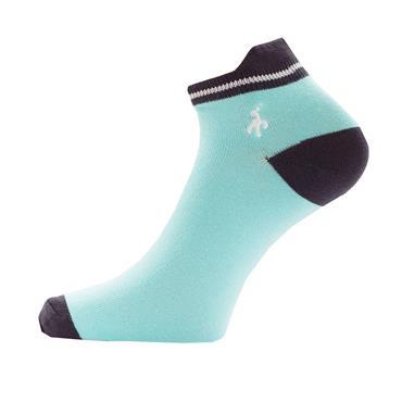 Green Lamb Ladies Patterened Socks 3-Pairs  Capri/Navy