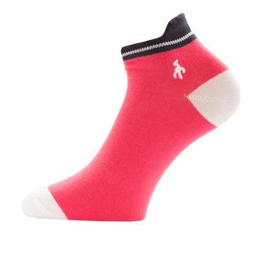 Green Lamb Ladies Patterened Socks 3-Pairs  Navy/Hibiscus