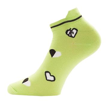 Green Lamb Ladies Patterened Socks 3-Pairs  White/Greenery
