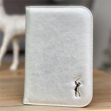 Surprizeshop Metalic Lady Golfer Scorecard Holder Large Silver