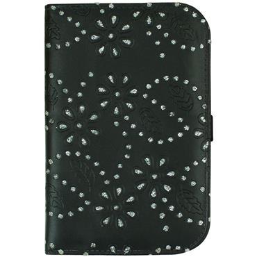 Surprizeshop Large Glitter Flower Scorecard Holder  Black
