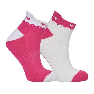 Surprizeshop Ladies Golf Socks 2-Pack Pink