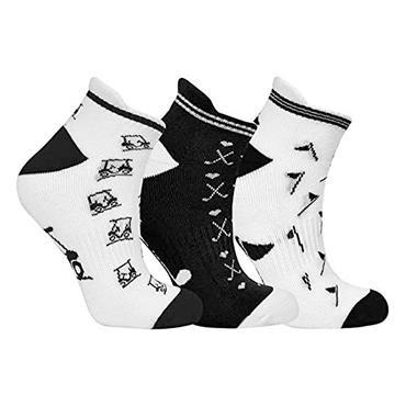 Surprizeshop Golf Socks 3 pack  Black - White