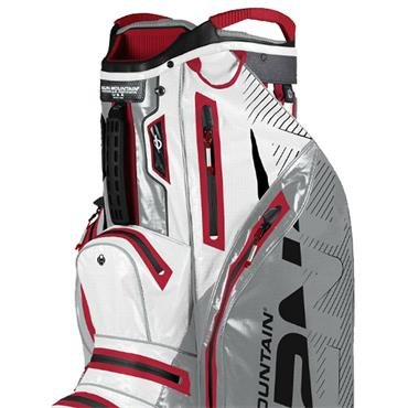 Sun Mountain H2NO Lite Cart Bag  White/Red