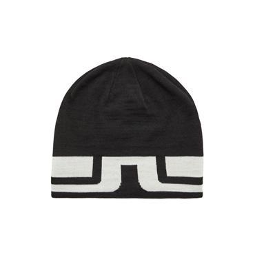 J.Lindeberg Bridge Stripe Wool Hat  Black 9999