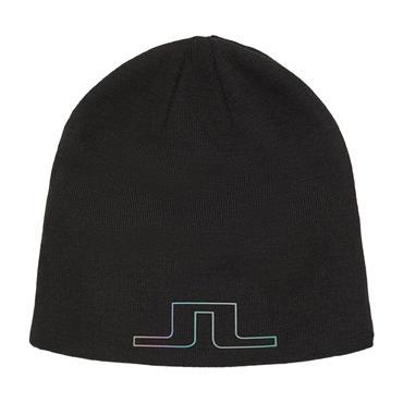 J.Lindeberg Logo Wool Blend Hat  Black 9999
