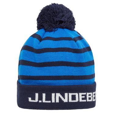 J.Lindeberg Stripe Ball Beanie  JL Navy 6855