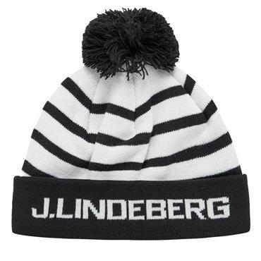 J.Lindeberg Stripe Ball Beanie  Black 9999