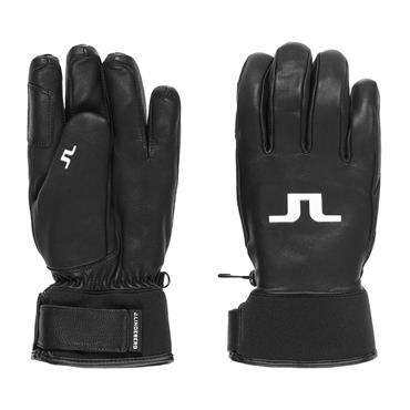 J.Lindeberg Gents Bridge Insulated Leather Gloves  Black
