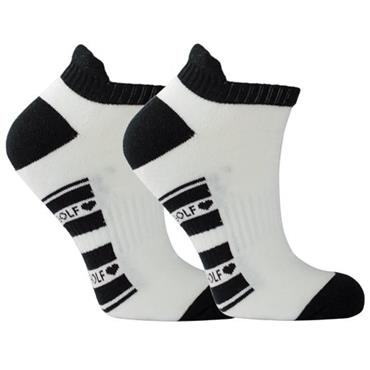Surprizeshop Ladies Golf Socks  White - Black