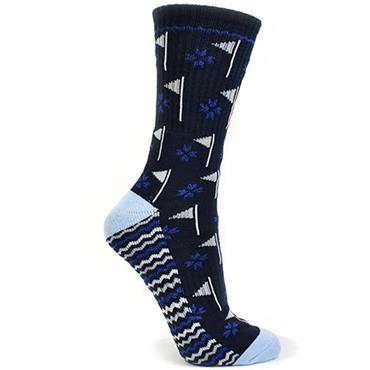 Surprizeshop Flag Emblem Ladies Sock  Navy