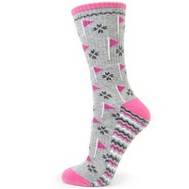 Surprizeshop Flag Emblem Ladies Sock  Grey
