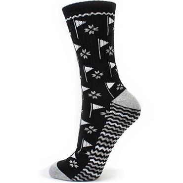 Surprizeshop Flag Emblem Ladies Sock  BLACK