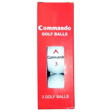 Commando Golf Balls (3 Balls)  White