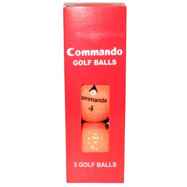 Commando Golf Balls (3 Balls)  Orange