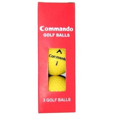 Commando Golf Balls (3 Balls)  Yellow