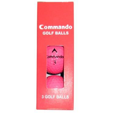 Commando Golf Balls (3 Balls)  Pink