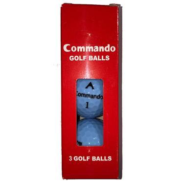 Commando Golf Balls (3 Balls)  Blue