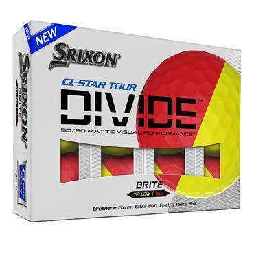 Srixon Q-Star Tour Divide Balls  Yellow/Red