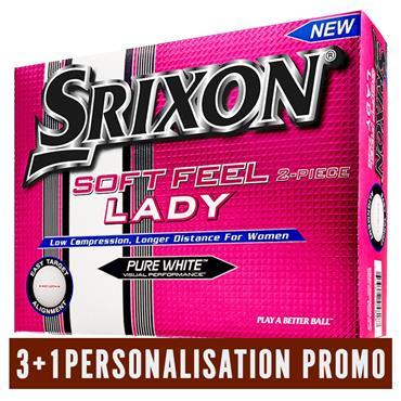 Srixon Pers Soft Feel Lady Ball 3+1 Free Promo  White