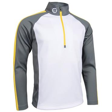 Sunderland Corporate Gents Aspen Pullover Silver - Yellow