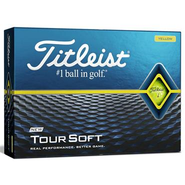 Titleist Tour Soft Golf Balls Dozen  Yellow