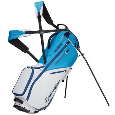 TaylorMade Flextech Stand Bag  Black White Grey Blue