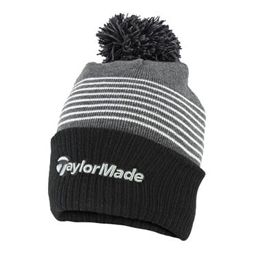 TaylorMade Bobble Beanie  Grey White