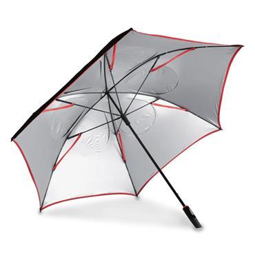 Titleist Tour Double Canopy Umbrella  Black/Red