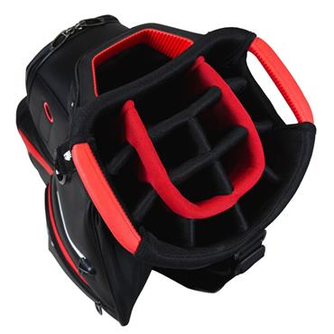TaylorMade Deluxe Cart Bag  Black/Red