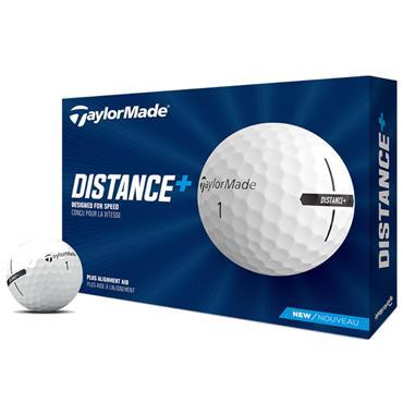TaylorMade Distance + Golf Balls Dozen White