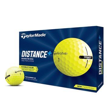 TaylorMade Distance + Golf Balls Dozen Yellow