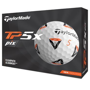 TaylorMade 2021 TP5x pix 2.0 Golf Balls Dozen White