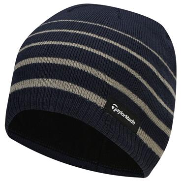 uk availability 77682 6bb39 TaylorMade Gents Stripe Beanie Navy ...