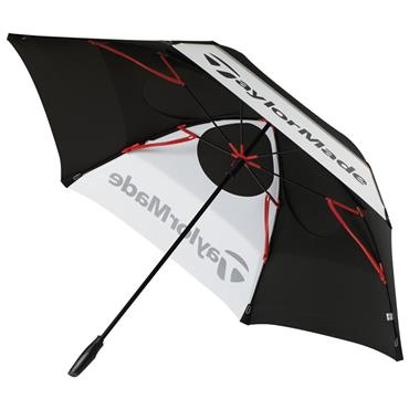 TaylorMade Tay 68IN Dbl Canopy Umbrella  Black - White