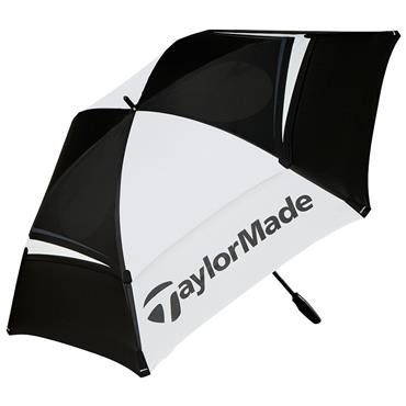 "TaylorMade 68"" Doble Canopy Umbrella  Black - White"