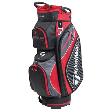 TaylorMade Pro Cart 6.0 Bag Black - Charcoal - Red