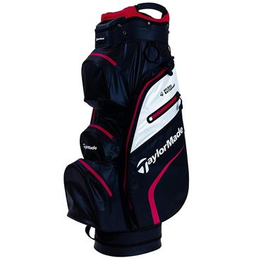 TaylorMade Deluxe Waterproof Cart Bag Black - White - Red