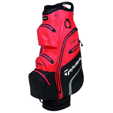 TaylorMade Deluxe Waterproof Cart Bag Red - Black