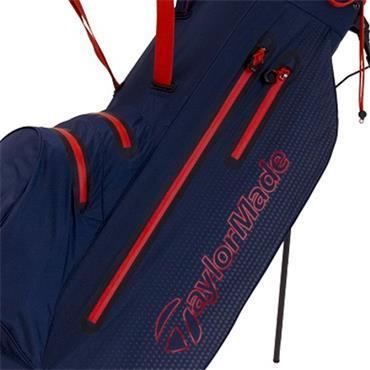 TaylorMade TM19 LiteTech Waterproof Stand Bag  Navy/Blood Orange