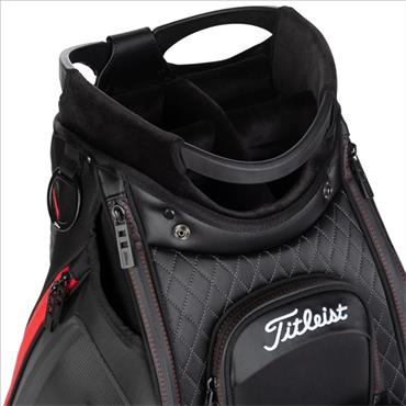 Titleist Jet Black Midsize Staff Bag 0S Black/Red