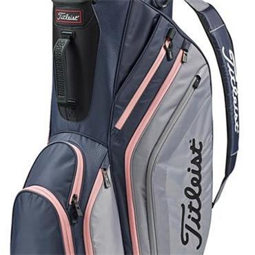 Titleist Lightweight Cart Bag  Charcoal/Sleet/Pink