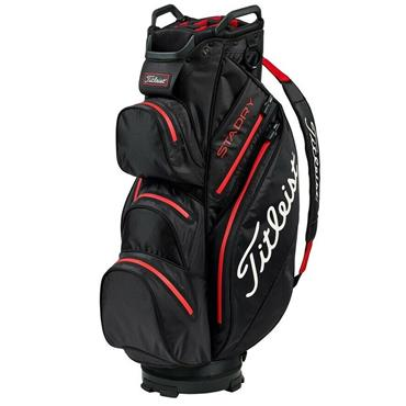 Titleist StaDry Cart Bag Black - Red