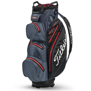 Titleist StaDry Cart Bag Charcoal/Black/Red