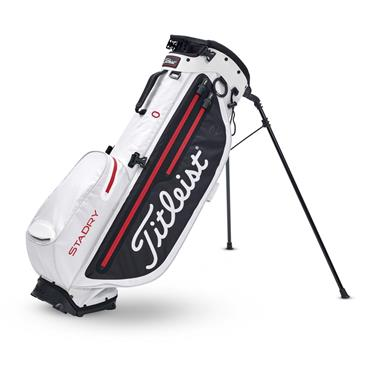 Titleist Players 4 Plus StaDry Stand Bag  White/Black/Red
