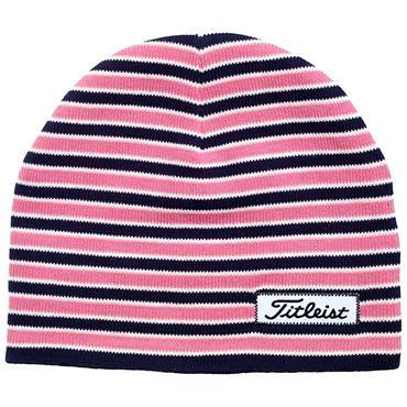 Titleist Striped Beanie  Pink Navy