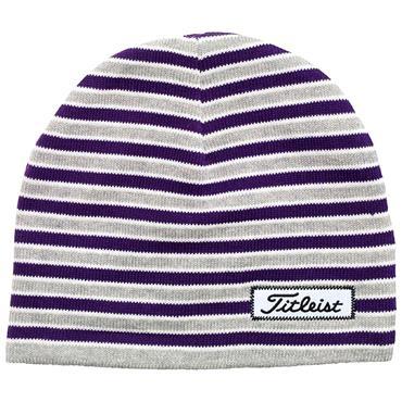 Titleist Striped Beanie  Purple Grey