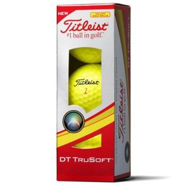 Titleist DT Trusoft Golf Balls Dozen  Yellow