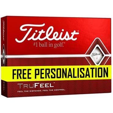 Titleist Pers Trufeel Golf Balls Dozen  White