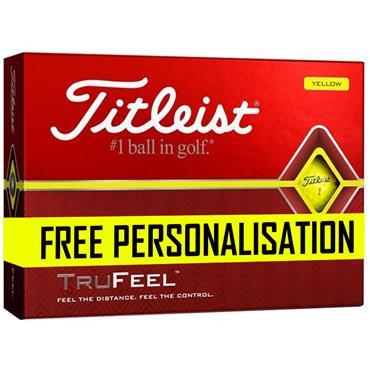 Titleist Pers Trufeel Golf Balls Dozen  Yellow